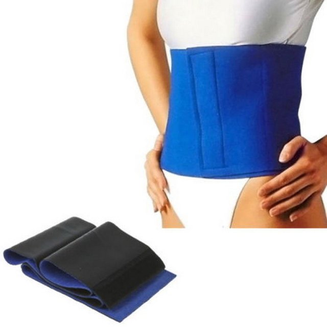 Slimming Exercise Waist Sweat Belt Wrap Fat Burner Body Neoprene Cellulite Waist Braces & Supports Blue 4