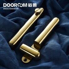 Dooroom латунный раздвижной дверной замок набор ручек Золото PVD черный интерьер гостиная ванная комната балкон кухня