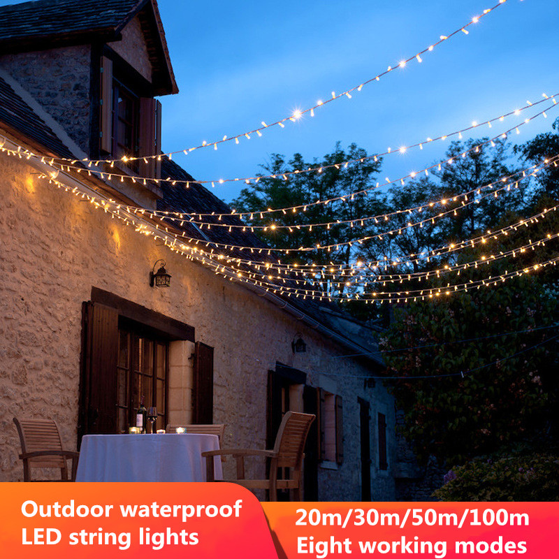 20/30/50M LED Light String Fairy Garland Outdoor Waterproof Christmas Tree String Lights Home Garden Wedding Party <font><b>Holiday</b></font> <font><b>Decor</b></font> image