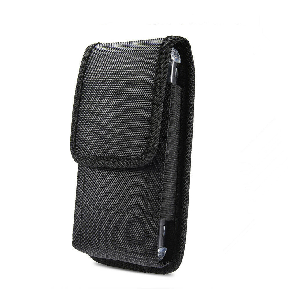 Casusal Men Black Phone Pouch Classic Hanging Waist Storage Bag Oxford Belt Clip Pouch Case For IPhone Fanny Pack Drop Shipping