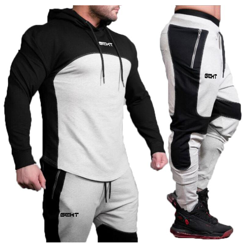 Brand New Gyms Cotton Sweatshirt Men Hoodies Winter Solid Hoodie Mens Hip Hop Coat Pullover Men's Casual Tracksuits
