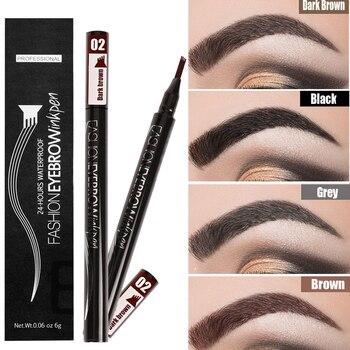 Waterproof Eyebrow Pencil Microblading Eyebrow Tattoo Pen Fine Sketch Liquid Eye Brow Tint Dye Pencil for Eyebrows Make up