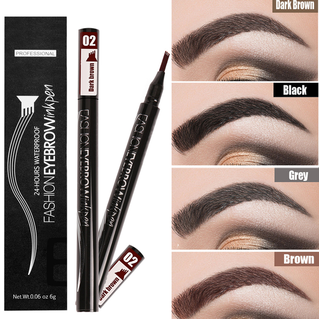 Waterproof Eyebrow Pencil Microblading Eyebrow Tattoo Pen Fine Sketch Liquid Eye Brow Tint Dye Pencil for Eyebrows Make up