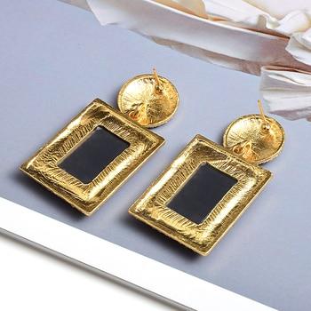Colorful Crystal Geometric Metal High-Quality Stone Earrings  2
