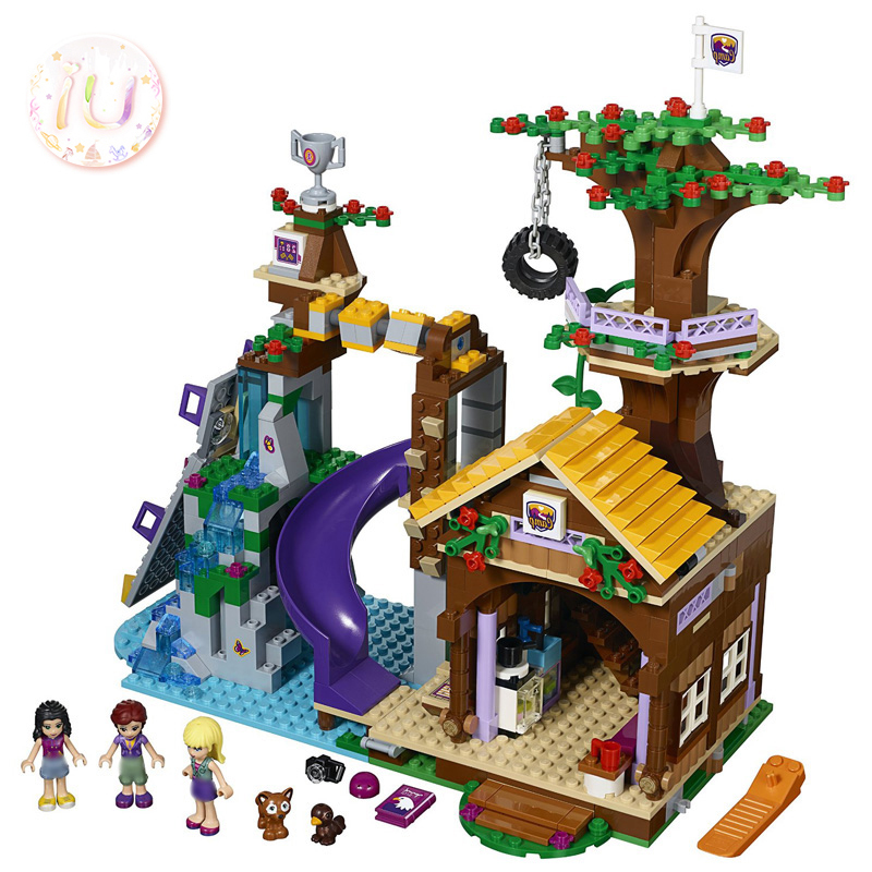 legoings Adventure Camp Tree House Set BELA <font><b>10497</b></font> Girls Series Building Blocks Toys For Children 739 Pcs Compatible 41122 Gifts image