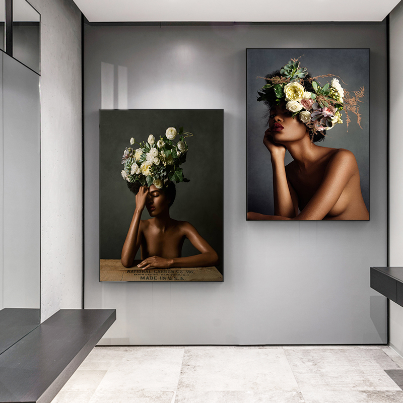 Сексуальные цветы для девочек скандинавский постер модные женские