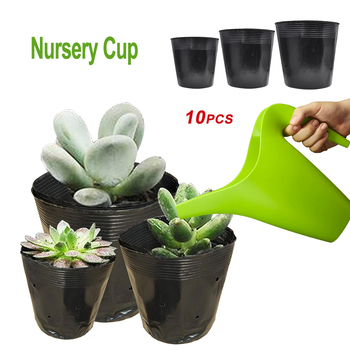 10pcs Plastic Grow Box Fall Resistant Seedling Tray For Home Garden Plant Pot Nursery Transplant Flower Seedling Pots 2020 Hot image