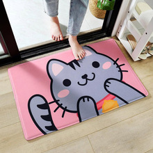Cute Meow Kitty Bunny Bear Design Rugs Anti-slip Doormats Bedroom Kitchen Washroom Floor Mat Rabbit Carpet