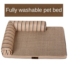 Removable and washable pet mattress kennel golden retriever husky dog sofa labrador large and small dog pet kennel