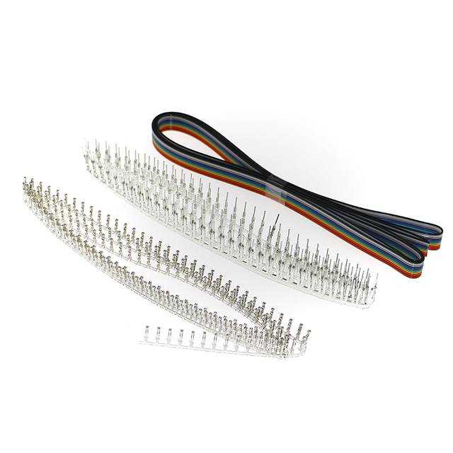 635Pcs/box 40Pin 2.54mm Pitch Single Row Pin Headers, Connector Housing Female, Male/Female Pin Connector Kit