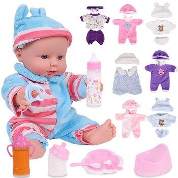 цена на 12 Inch Baby Reborn Dolls for Kids Silicone Child Doll Lifelike Newborn Fashion Baby Doll Toys For Children Birthday Gift