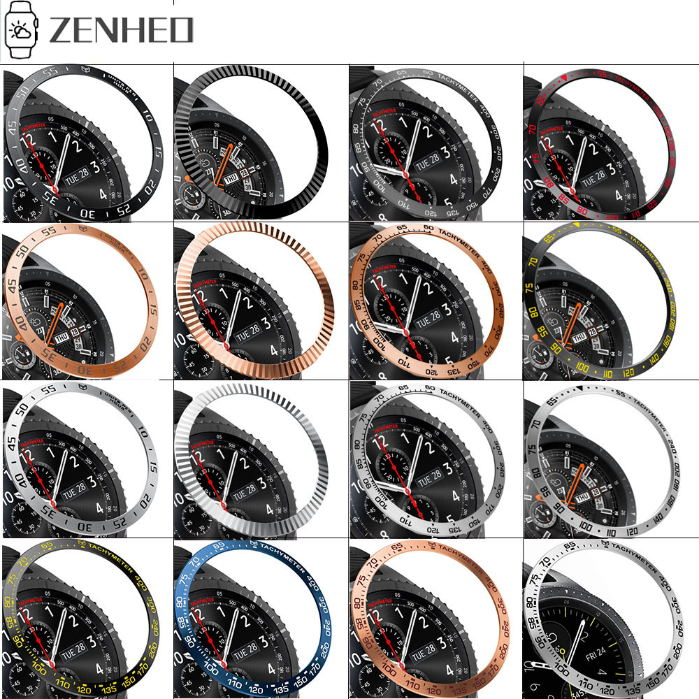 Metal Bezel Ring Case For Samsung Galaxy Watch 46mm/42mm Bezel Styling Frame Case Cover Protection For Samsung Gear S2 S3