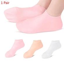 1 par Spa casa silicona hidratante Gel tacón calcetines roto pie protectores de cuidado de la piel Anti grietas nuevo caliente calcetines para el cuidado de los pies