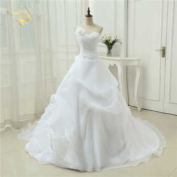Vestido De Noiva A line One Shoulder Bridal Applique Lace Organza Robe De Mariage Vintage Wedding Dresses 2019 OW4042 Plus Size - DISCOUNT ITEM  5% OFF All Category