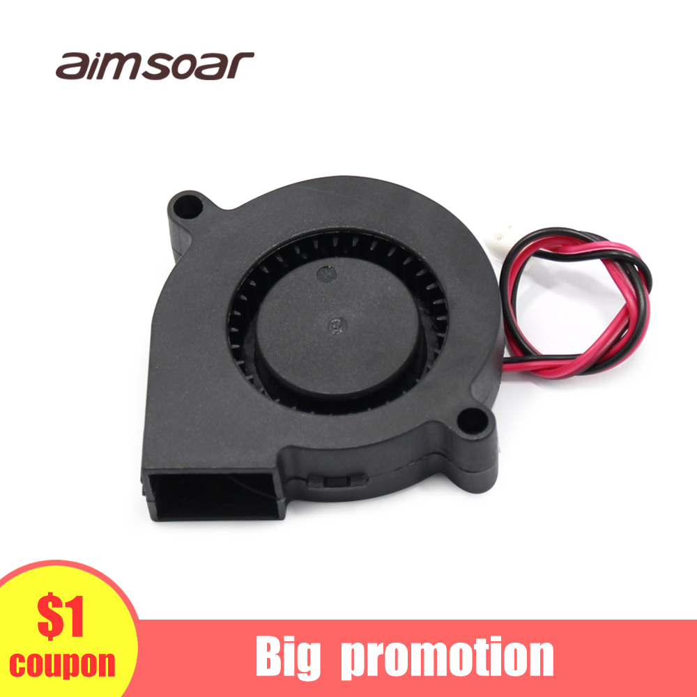 Fan 12v Ender 3 Fan 50mm Blower Fan 2 Pin 3d Printer Parts 5015 50*50*15mm