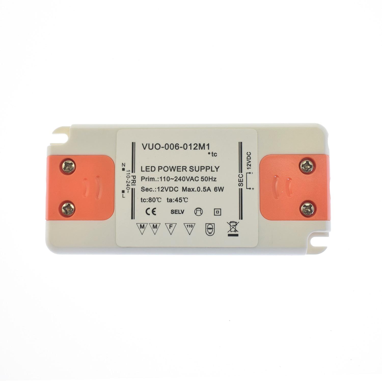 Ультратонкий трансформатор постоянного напряжения, адаптер драйвера светодиодной панели, 6 вт, 110 в, 220 в до 12 в, выходной источник питания, св...