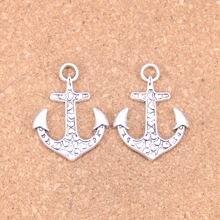 8pcs Charms heart anchor 34x26mm Antique Pendants,Vintage Tibetan Silver Jewelry,DIY for bracelet necklace