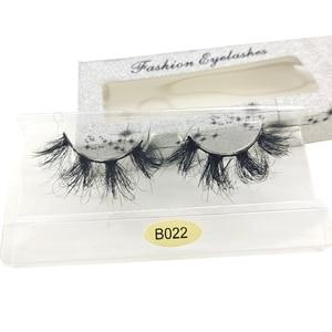 Image 2 - חדש HBZGTLAD 3D מינק שיער דליל צלב עין ריסים בעבודת יד רכה הארכת מינק ריסים