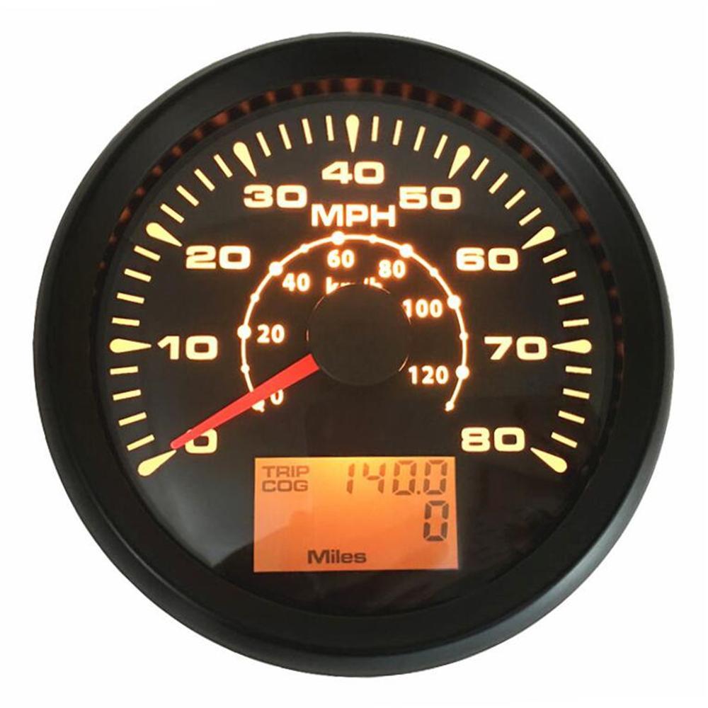 Упаковка из 1 мм 0-80MPH автоматическая Настройка gps датчики скорости 85 мм 0-120 км/ч/gps скорость Mileometers одометры туристические датчики Cog 9-32vdc