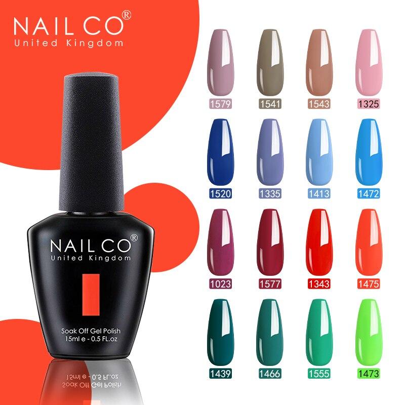 Nailco 15ml Gel Nail Polish 47 Colors Uv Led Semi Permanent Nail Polish Long Lasting Gel Lacquer Nail Art Varnish Hybrid Special Offer 4fae Cicig