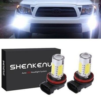 2X H11 LED Fog Light Bulbs For Toyota Tundra RAV4 Sienna Tacoma 2018 6000K Fog Lamp Auto Accessories Replacement Bulbs image