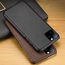 Genuine Leather Phone Case For iPhone 11 Pro Cases Litchi Texture For Apple X XS Max XR 6 6S 7 8 Plus SE 2 Cowhide Cover Funda genuine leather phone case for iphone 11 pro cases litchi texture for apple x xs max xr 6 6s 7 8 plus se 2 cowhide cover funda