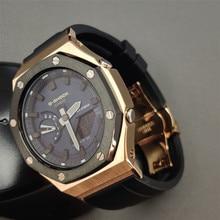 Ремешок для часов Hontao GA2100, металлический ремешок для часов 2rd, флюоровая резина, ремешок для часов Casio G Shock GA-2100/2110