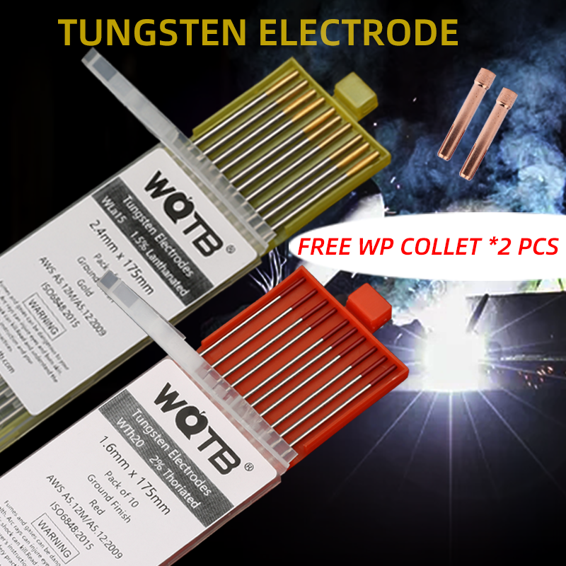 Tungsten electrodes electrodes tungsten WL15 WL20 WT20 WC20 10pcs tig electrodes  welding rods1.0 1.6 2.0 2.4 3.0  3.2 4.0