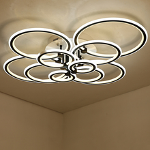 NEO Gleam Double Glow Circel Rings Living Room Bedroom Led Chandelier High Brightness Aluminum Modern Led Ceiling Chandeliers