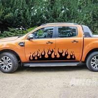 run by fire car door side graphic vinyl for dmax adventure mud ranger F150 NAVARA