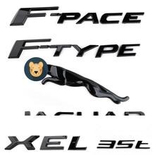 3d etiqueta do carro 3.0 5.0 v6 v8 xe xf xjl carta emblema traseiro decalques para jaguar xe xf xjl E-PACE F-PACE F-TYPE estilo do carro