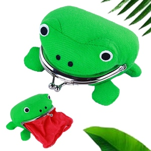1 PC Frog Shaped Coin Purses PU Leather Card Holder Credit ID Wallet Pocket Women Girls Female Coin Purse Dropship Hot Sale(China)