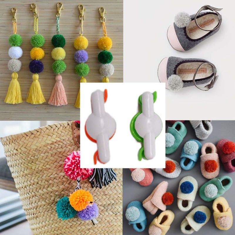 POPULAR 6 PCE SMALL-MEDIUM AND LARGE POMPOM MAKER..FREE POST IN OZ