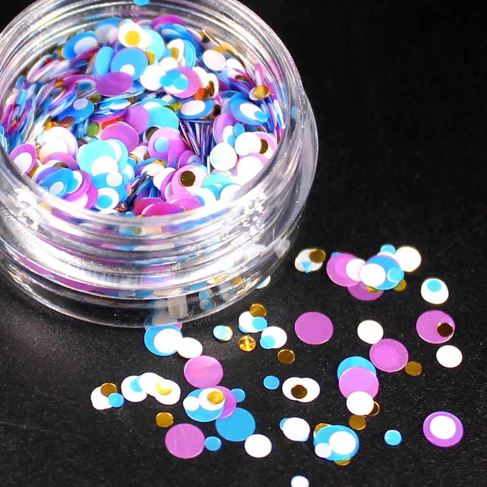12 الألوان بريق مسمار حجر الراين صغيرة غير النظامية الخرز مانيكير 3D مسمار فن الديكور في عجلة الملحقات