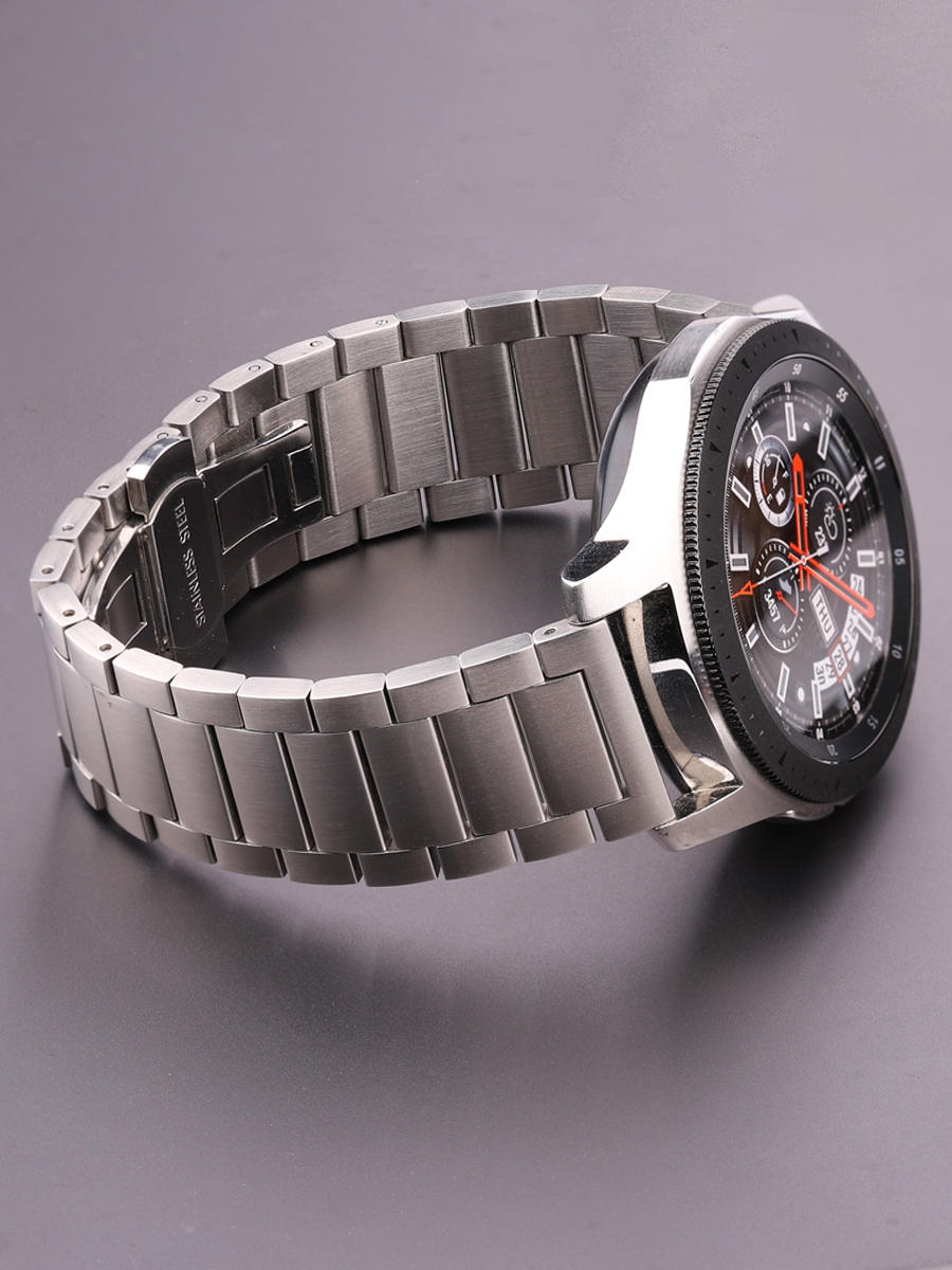 Watchbands Bracelet Gear S3 20mm Wrist-Strap 18mm Stainless-Steel Silver 45mm 22mm