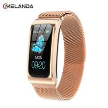 "MELANDA Women Smart Watch 1.14"" IP68 Waterproof Heart Rate Stopwatch Clock Fitness Tracker Watches PK X3 S2 For Android IOS"