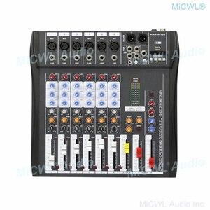 Image 2 - Marke Neue 6 Kanal Audio Mixer Sound Mischpult mit Bluetooth 48V Phantom USB 3 Marke EQ wirkung