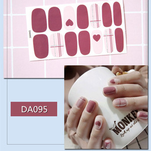 Image 3 - 2019 Korea Designed Full Wraps Shiny Nail Art Sticker Decals Multicolor Nail Stickers Strips DIY Salon Manicure Drop Ship
