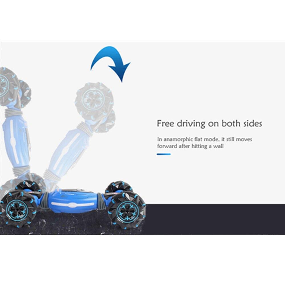 Venda quente dublê gesto carros rc controle remoto torção carro fora de estrada veículo luz música deriva dança dupla lado carro de condução - 4