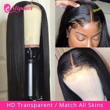 Perruque Lace Closure Wig péruvienne naturelle – AliPearl, cheveux lisses, 5x5 HD, pre-plucked, densité 180 250, pour femmes
