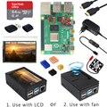 4000244917268 - Raspberry Pi 4 Modelo B + carcasa + fuente de alimentación + tarjeta SD de 64GB + disipador de calor opcional pantalla táctil de 3,5 pulgadas/ventilador + Cable HDMI para RPI 4