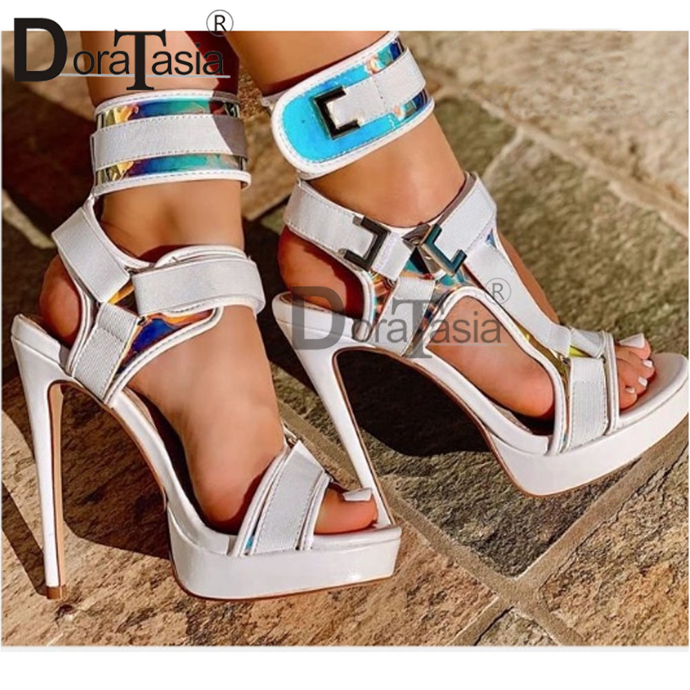 DORATASIA Big Size 34-43 Brand New Ladies Sexy Thin High Heels Gladiator Sandals Platform Summer Sandals Women Party Shoes Woman
