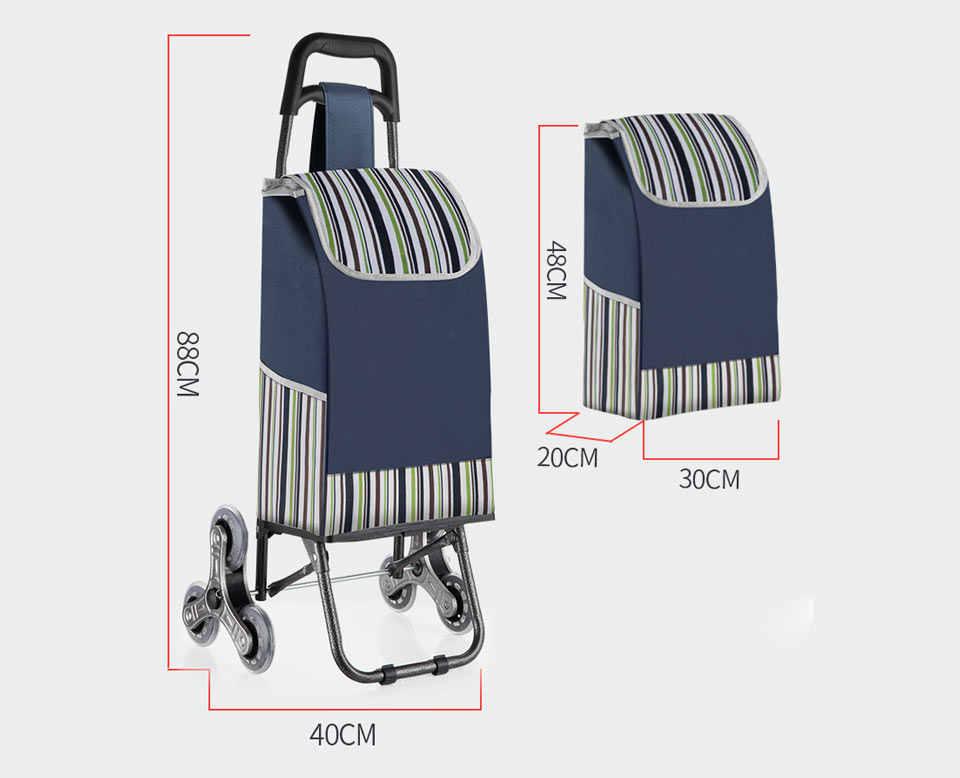 أكياس التسوق ل عربة تسوق عربة التسوق امرأة سلة تسوق مقطورة المحمولة عربة كبيرة أكياس التسوق طوي حقيبة يد