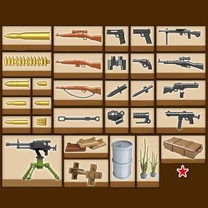 Image 3 - Oenux WW2 la battaglia di mosca scene militari piccolo blocco da costruzione Mini soldato dellesercito russo sovietico figura mattone blocco giocattolo per bambini