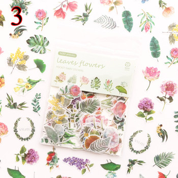 100pcs/bag Kawaii Cat Stickers Green Plant Dessert Decoration Adhesive Scrapbooking Diary Diy Album Stationery - discount item  30% OFF Stationery Sticker