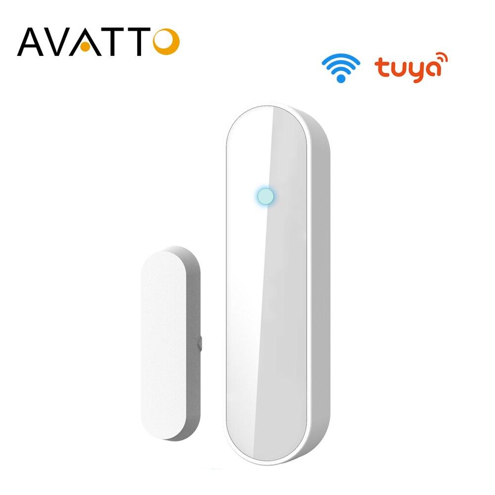 AVATTO Tuya Smart WiFi Window Door Sensor Door Open Closed Detectors Compatible With Alexa Google Home for Drop Shipping
