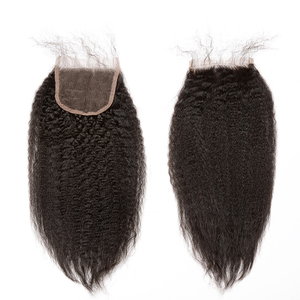 Image 4 - Perwersyjne pasma prostych włosów z zamknięciem brazylijskie włosy wyplata zestawy gruba Yaki Natural Color 100% doczepy z ludzkich włosów Remy