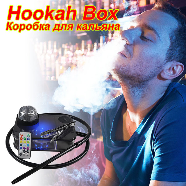 1 Set Hookah With LED Light Portable Hookah For Smoking кальян Water Pipe Complete Smoking Hookah Accessories With LED Light