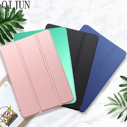 Etui na Tablet do Huawei MediaPad T3 10 9.6 cala skóra Smart Sleep wake funda Trifold stojak solidna pokrywa capa do AGS-W09/L09/L03