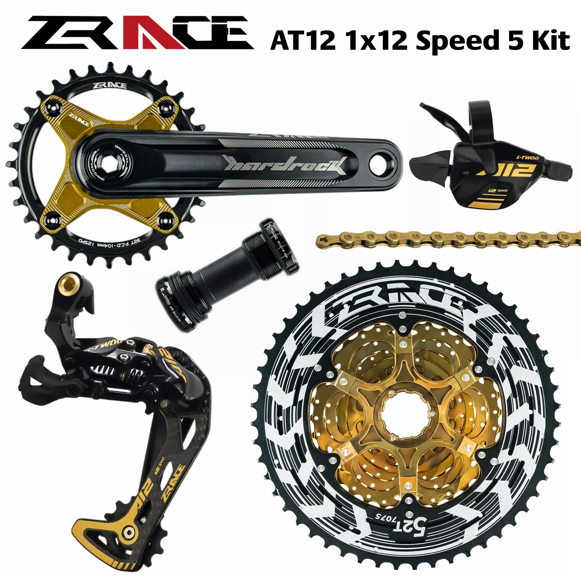 Zrace x ltwoo at12 12 velocidade cárter + shifter + desviador traseiro 12s + alpha cassette 52 t/chainrings + corrente águia gx/m9100Desviador de bicicleta   -